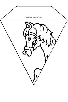 Vlaggetjes maken Diy For Kids, Cool Kids, Crafts For Kids, Horse Crafts, Activity Sheets, Hobbies And Crafts, Horse Games, Silhouette Cameo, Coloring Pages
