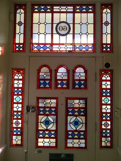 victorian home stained glass window - Google Search