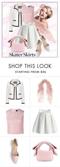 """""""Skater Girl contest"""" by benzin ❤ liked on Polyvore featuring Boutique Moschino, Valentino, Simone Rocha, Chicwish and Journee Collection"""
