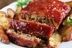 Amazing meatloaf recipe! i just don't add the vinegar to the sauce, and use italian bread crumbs instead of a slice of bread.