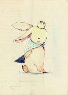 Bum Bum is a Prince and love to wear a crown and cape.    This is a print from my original illustration .  Paper measures 21x14  Approximate.     T...