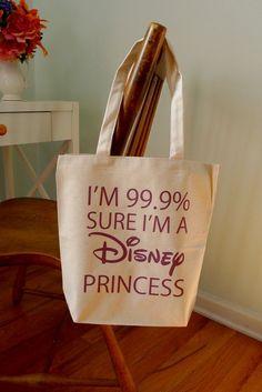 princess tote bag disney princess 99.9 princess by rachelwalter, $14.00 I really want to get this for a girl I tutor