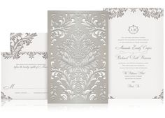 Lace Laser Cut Luxury Wedding Invitation