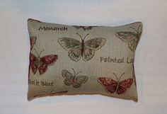 Exclusive 12x16 Burgundy Painted Lady Monarch Butterfly Lumbar Pillow by DecorTreasures on Etsy