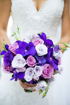 Purple infused #bouquet | Photography: Luminous Weddings - www.luminousweddings.ca  Read More: http://www.stylemepretty.com/canada-weddings/2014/05/01/gorgeous-traditional-wedding-at-graydon-hall-manor/