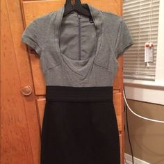 Max and Cleo business dress Worn 1x! Tight black bottom, grey top Max & Cleo Dresses Midi