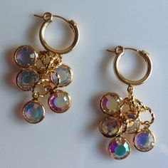 Swarovski Crystal Bezeled Raindrop Earrings