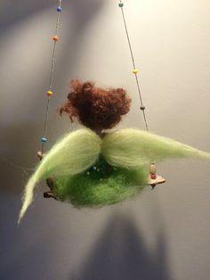 Needle felted fairy Children room Waldorf inspired Needle