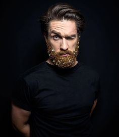 Glitter Beard Trend   InspireFirst #GlitterBeard