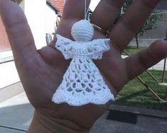 Crochet angel pattern - in Hungarian Crochet Angel Pattern, Crochet Angels, Crochet Cross, Thread Crochet, Crochet Yarn, Free Crochet, Crochet Patterns, Crochet Christmas Decorations, Crochet Ornaments