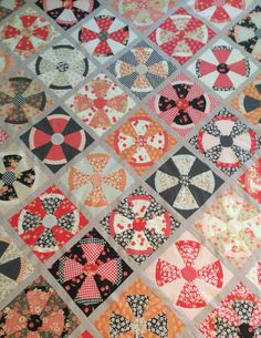 Steampunk quilt. Pattern by Jen Kingwell. Fabric is Farmhouse by Fig Tree & Co.