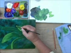 Acrylic Painting Techniques : Learn To Paint: Painting Leaves & A Bird