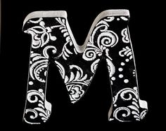 Letters M Wall Decoration letter art wooden letters for by TreeSky, $7.50