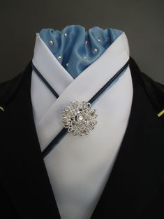 Stunning bespoke dressage stock ties made to order from Equestrian Pzazz. Check us out on Etsy or Facebook!