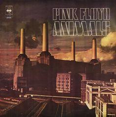 """Capa do disco """"Animals"""", lançado em 1977 pela banda de rock Pink Floyd, que tornou a usina de Battersea famosa"""