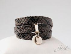 GREY SNAKE BELT (proj. Issi design), leather bracelet