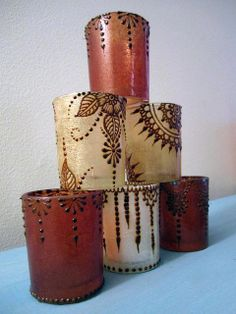 Henna candle holders by ReMarkable Blackbird, via Flickr