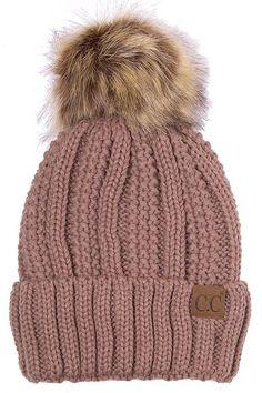 b978a58d06154 CC Lined Knit Beanie Knit Beanie
