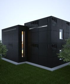 a journey of discovery — 2 cubes - Architecture from the Sergey Makhno Black Architecture, Beautiful Architecture, Residential Architecture, Contemporary Architecture, Interior Architecture, Black Building, Design Exterior, Facade House, Black House