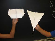 Tuesday, February 11, 2014. Different paper airplanes fly different distances...why?