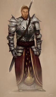 Aury Venedith, comandante templário de Gwaren, é um homem resoluto, porém misericordioso. Dizem que ele é o melhor guerreiro de Gwaren, e, embora seja subordinado à Venerável Mãe, muitas vezes discute com ela sobre a melhor forma de proceder com os magos capturados.