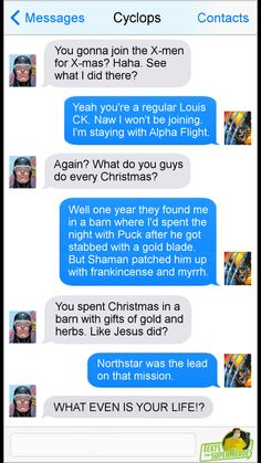 ALPHA FLIGHT Texts from Superheroes - Wolverine Cyclops Puck Shaman Northstar