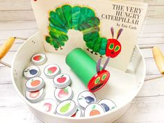 Very hungry recycled caterpillar activity with free printable