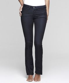 Take a look at this Dark Evening Shaper Straight-Leg Jeans - Women by Yummie by Heather Thomson on #zulily today!