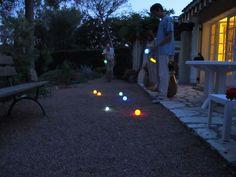 glow-in-the-dark bocce ball? YES! (via joannagoddard.blogspot.com)