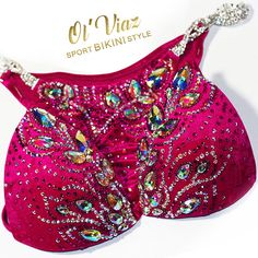 Hey, I found this really awesome Etsy listing at https://www.etsy.com/ru/listing/385700146/fuchsia-velvet-competition-bikini-with