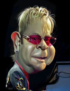 TOONPOOL Cartoons - Elton John by rocksaw, tagged elton, john, caricature, study - Category Famous People - rated / Funny Drawings, Cartoon Drawings, Cartoon Art, Horse Drawings, Funny Caricatures, Celebrity Caricatures, Celebrity Drawings, Famous Cartoons, Funny Cartoons