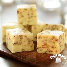 Creamy White Fudge from Eagle Brand®. Really easy and good and I put in fresh cardamom for an exotic taste
