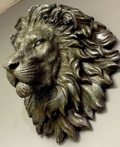 #Large bronze effect #handsome lion head bust wall art sculpture #vintage retro n,  View more on the LINK: 	http://www.zeppy.io/product/gb/2/322380798058/