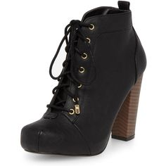 Dorothy Perkins Black block heel boots found on Polyvore