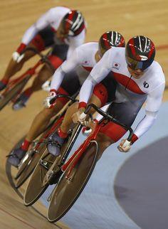 men's cycling 自転車(トラック) 男子チームスプリント1回戦
