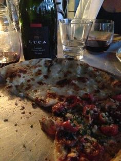 Having the best pizza I had in while at Wildcraft Sourdough Pizza w/ very smooth Luca Syrah 2010 @MalbecLife By Twitter user @soccerfede