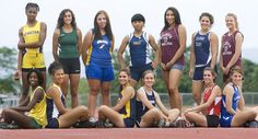 2010 Patriot-News girls' track and field all-star team Track Pictures, Soccer Pictures, Senior Pictures Boys, Team Photos, Sports Photos, Yearbook Photos, Yearbook Ideas, Cross Country Pictures, Team Photography