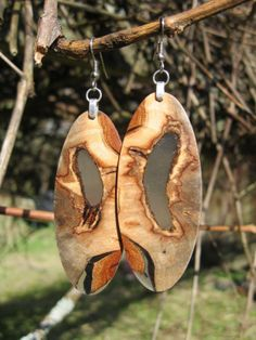 Your place to buy and sell all things handmade Buckeye Burl, Etsy Earrings, Drop Earrings, Pendants, Things To Sell, Christmas Ornaments, Big, Amazing, Wood