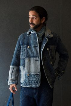 Rugged Never Smooth — Porter Classic Kendo x Porter Classic Sashiko Raw Denim, Denim Jeans, Porter Classic, Hipster Jeans, Mode Jeans, Rugged Style, Work Jackets, Tumblr Outfits, Gentleman Style
