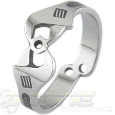 The Mechanica Wrench Ring, Gear Head Rings - Titanium-Buzz.com