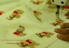 Hand Work Embroidery, Indian Embroidery, Gold Embroidery, Embroidery Fashion, Embroidery Applique, Embroidery Stitches, Embroidery Patterns, Machine Embroidery, Passementerie