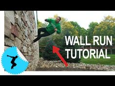 How to Horizontal Wall Run - How To Parkour Tutorial - Tapp Brothers Ninja Training, Training Plan, Running Training, Training Programs, Parkour Workout, Yoga For Balance, American Ninja Warrior, Outdoor Gym, Aikido