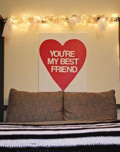 you're my best friend wall art.