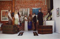 Opção: Decoração de casamento sem flores (baús e discos)