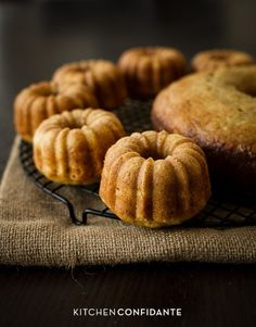 Banana Pineapple Mini Bundt Cakes from Kitchen Confidante.