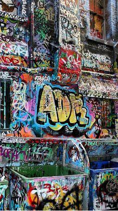Graffiti wall [Hosier Lane] (Melbourne, Australia)