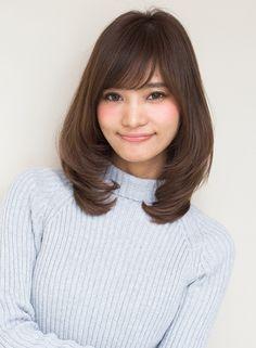 ひし形シルエット 【AFLOAT JAPAN】 http://beautynavi.woman.excite.co.jp/salon/28130?pint ≪ #mediumhair #mediumstyle #mediumhairstyle #hairstyle・ミディアム・ヘアスタイル・髪形・髪型≫