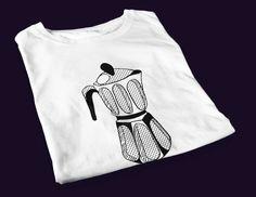 Moka pot  men's screen printed t-shirt by yoinkprintshop on Etsy