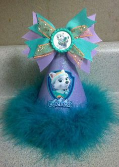 Hey, I found this really awesome Etsy listing at https://www.etsy.com/listing/221271521/paw-patrol-everest-party-hat-with