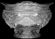 Gorham sterling silver beaux-arts style punch bowl, c1893 (SMP Silver Salon Forums)